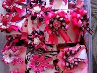 Custom Hair bows constructed by Hand made with High