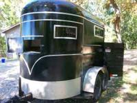 1978 Hale 2 horse bumper pull trailer that has been