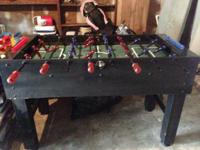 Hello, I'm selling a halex foosball table. It's in good