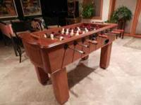 For sale: Halex Oak Foosball Table. EXCELLENT