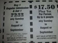 I have marked down Blue Bayou/Dixie Landing admission