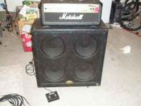 Included: -Marshall HDFX100 Head -B52 4x12 straight