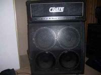 Crate stereo chorus head and Peavey 4x12 cabinet! Cab