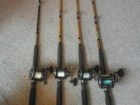 Up for sale is 4 ugly stick halibut/ sturgeon rod