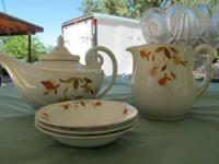 Vintage Jewel Tea Autumn Leaf Halls Superior China