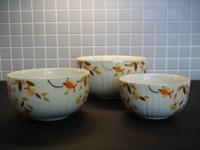I am selling these 3 antique mixing bowls from the