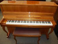 "Elegant Hallet & Davis 46"" Upright piano. Excellent"