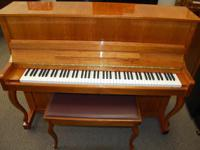 "Stylish Hallet, Davis 46"" Upright piano. Outstanding"