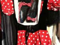 Girls large12-14 minny mouse with shoes Girls 12-14
