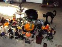 TONS of Halloween Decorations including: Black Cat