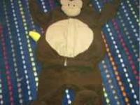 Never used monkey Halloween costume fits 0 to 6 months