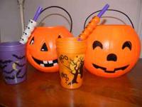 Pumpkin buckets, spooky straws, party cups, etc. I have