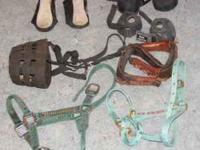 Used tack for sale: Pony and yearling halters $5 each.