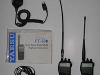 2 Yaesu FT-530 dual band paging transceivers and