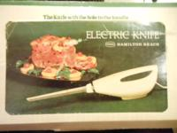 NEW, NIB, Hamilton Beach electric knife from the 60's.