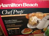 BARELY USED, STILL IN BOX FOOD PROCESSOR BY HAMILTON