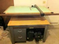 Drafting Table with Horizontal Track Assembly(Vemco