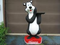 "Hamm's beer bear, styrofoam 5' 1"" tall. I have had this"