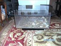 The 25 Gallon Aquarium Coffee Table.Made by the