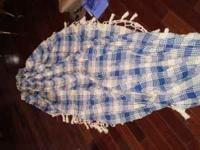 brand new blue and white woven hammock (hardware not