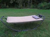 Great relaxing hammock. Set up and used once. Just sits