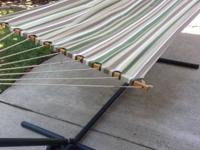 I am selling a hammock with metal stand. The stand was
