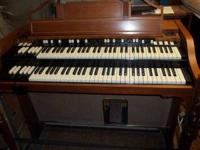 Hammond organ model A-100 with Leslie speaker, pedals,