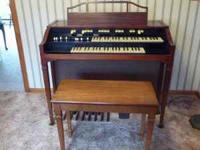 Classic Hammond electric organ. Not all stops are