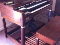 Late 80's Super B Hammond Organ. It comes with a Leslie