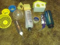 I have several items for a hampster or rabbits for sale