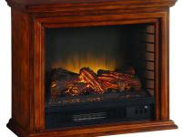 This Hampton Bay Electric Fireplace provides