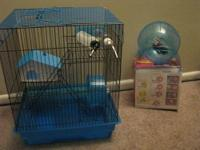 Hamster cage with wheel,water bottle,etc. You ad the