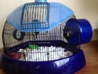 I have two hamster cages for sale. The blue one is used