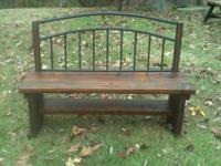 "Hand built, rustic, ""entry"" bench. Solid, sturdy"