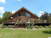 3 bedroom hand built west facing log home on 2 acres,