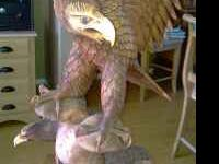 Beautiful Hand Carved Eagle Statue. Made and imported