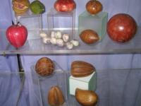 Collection of hand made fruit to use as paperweights or