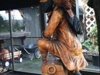 Hand carved, wooden Pirate statue. Life-sized. Approx.