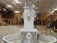 A beautiful solid marble hand carved water fountain