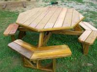 Hand crafted lawn furniture! Made of southern yellow