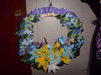 Hand-Crafted wreaths for sale. I can make custom