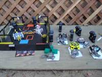 This is a Battlebot arena and it comes with 7 hand held