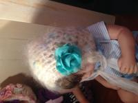 0 to 6 months size hand knit baby Bonnets forsale.