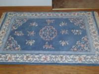 "Hand Knotted 100% Wool Pile area rug 5'6""x 3'6"", thick"