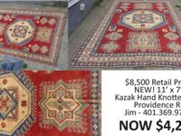 Lovely & Vibrant Hand Knotted Kazak Rug $8,500 Value -