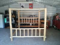 Hand made yearn 4 poster bed frame, wood made use of to