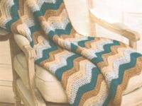 HAND MADE CROCHET AFGHAN THROWS (include little pillow