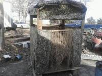 I'm selling my hand made deer blind that can be used on