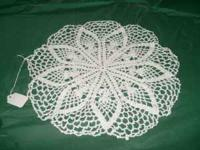I have some hand made doilies for sale.the white one I