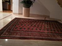 Hand woven antique 50 year old vintage Bokhara rug